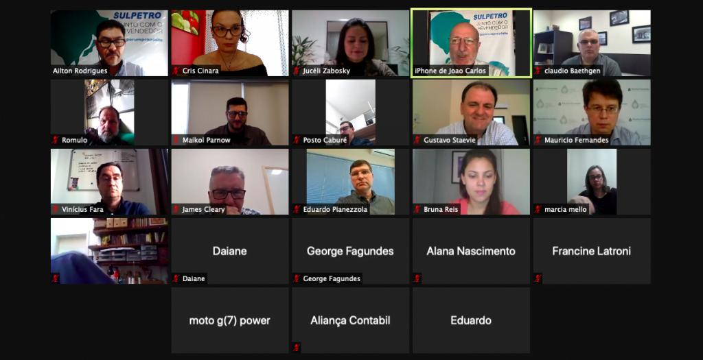 Revendedores das Regionais de Bagé, Santana do Livramento, São Gabriel e Uruguaiana participam de evento virtual do Sulpetro
